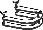 Clamp, Horseshoe Style, for Flat Flange