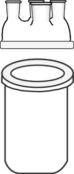 Flask, Reaction, Kettle, Resin-type, Flat Flange