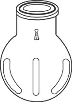 Flask, Reaction, Spherical, Idented Style, 150mm (6